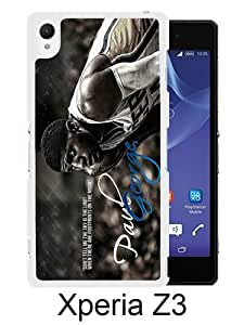Indiana Pacers Paul George 2 White Sony Xperia Z3 Screen Phone Case Handmade and Charming Design