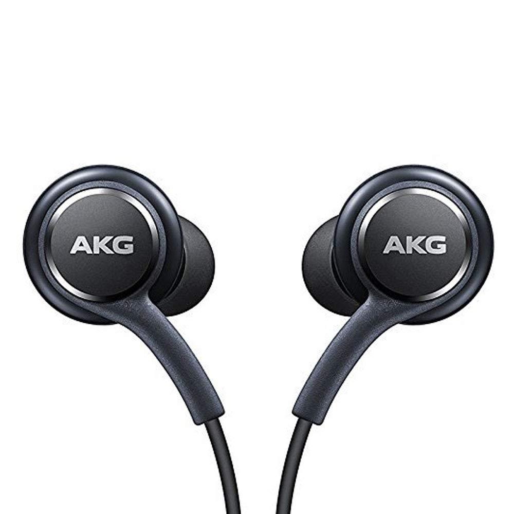calibrados por AKG//Harman Kardon Negro Auriculares de Manos Libres Oficiales para Samsung Galaxy S8//S8 protecci/ón contra enredos Venta al por Menor Suministro sin Caja EO-IG955BSEGWW