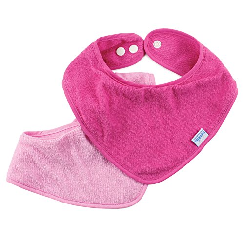 Bumkins Absorbent Cotton Bandana Bib 2 Pack, Pink ()