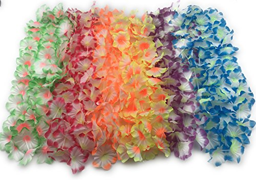 (Oojami Morning Glory Leis Package of 12)