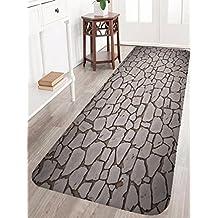 "A.Monamour Vivid Cracked Ground 3D Print Soft Flannel Non-Slip Entrance Floor Mat Doormat for Living Room Bedroom Bathroom Rugs Carpets 40x120cm / 16""x48"""
