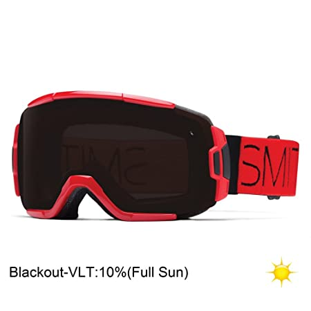 Smith Optics Vice Vaporator Series Winter Sport Snowmobile Goggles Eyewear – Fire Block Blackout One Size Fits All