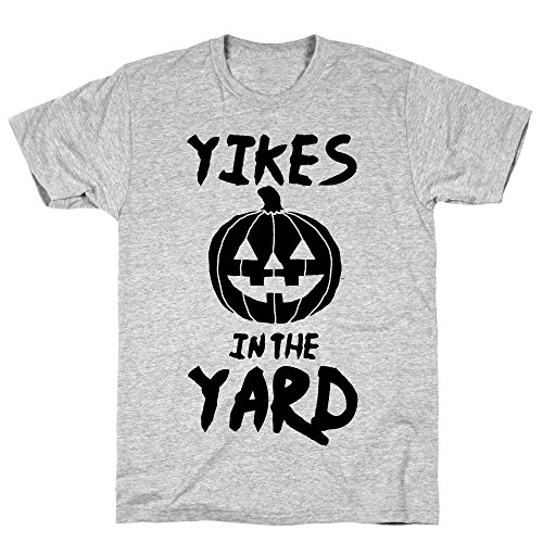 LookHUMAN Yikes in The Yard Medium Athletic Gray
