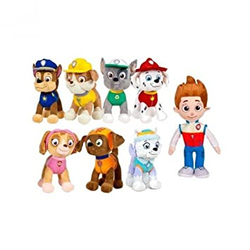 Peluche patrulla canina 20 cm (8 personajes) lote 8 und. Ryder,Marshall