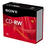 Sony 10CDRW700R//T 4X CD-RW Slim Jewel Case (10-Pack)