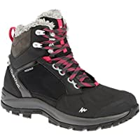 Quechua SH 500 Women's Active Warm and Waterproof Snow Hiking Boots - Black