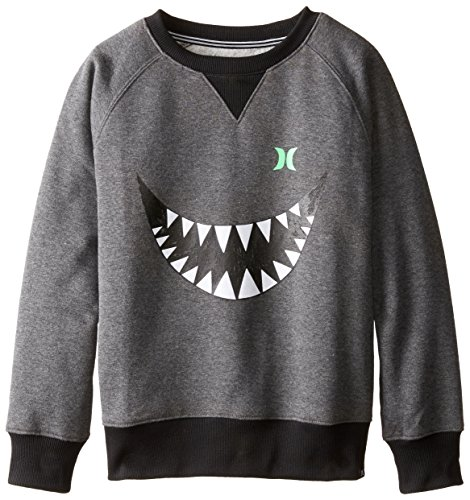 (Hurley Boys Shark Bait Charcoal Heather Crew,)