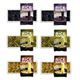 Lotus Foods -Gluten Free Rice Ramen Variety Pouch 6 Pack - [Forbidden Rice, Jade Pearl Rice , Millet & Brown Rice ] by Lotus Foods