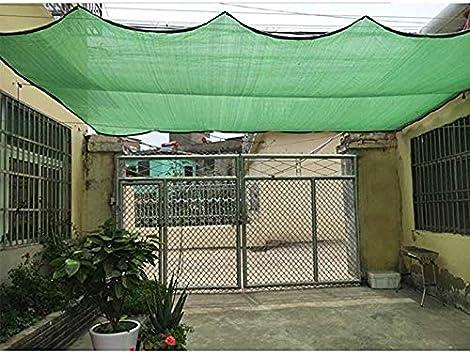 QHGao Toldo para Vela Sombrilla Rectangular,Protección Solar Verde para Exteriores 80% De Sombreado Aislamiento De Enfriamiento Calefacción Cifrado De 6 Pines para Techo De Jardín,6M*10M: Amazon.es: Hogar