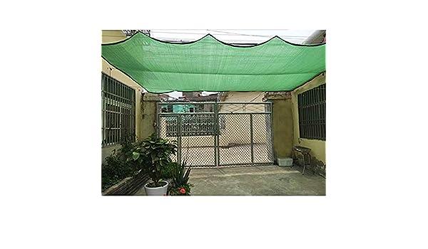 QHGao Toldo para Vela Sombrilla Rectangular,Protección Solar Verde para Exteriores 80% De Sombreado Aislamiento De Enfriamiento Calefacción Cifrado De 6 Pines para Techo De Jardín,3M*4M: Amazon.es: Hogar