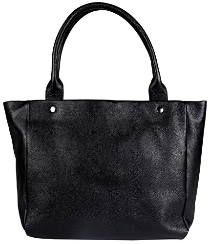 Borsa Spalla Donna Nero Mandarina Duck Mellow Leather Shopper Black 151FZT13651