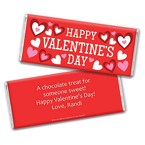 Amazon.com : Personalized Valentines Day Candy Favors Hersheys Chocolate Bars (12 Bars) : Grocery & Gourmet Food