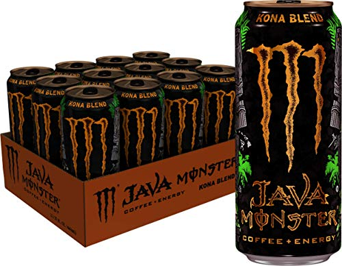 Java Monster Kona Blend, Coffee + Energy Drink, 15 Ounce (Pack of 12)