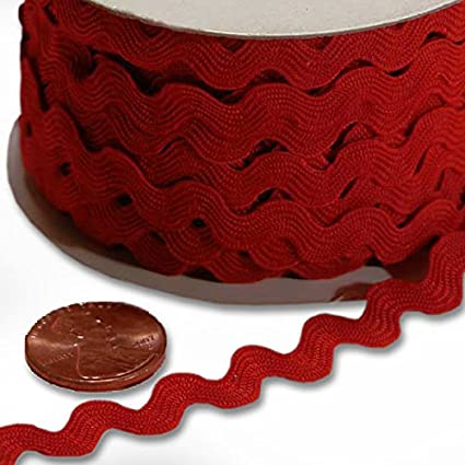 Red Ric Rac Trim 5mm X 22Yd