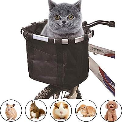 Cat Basket Pet Dog Travel Bike Basket 2-in-1 Dog Bicycle Carrier Cat Soft...