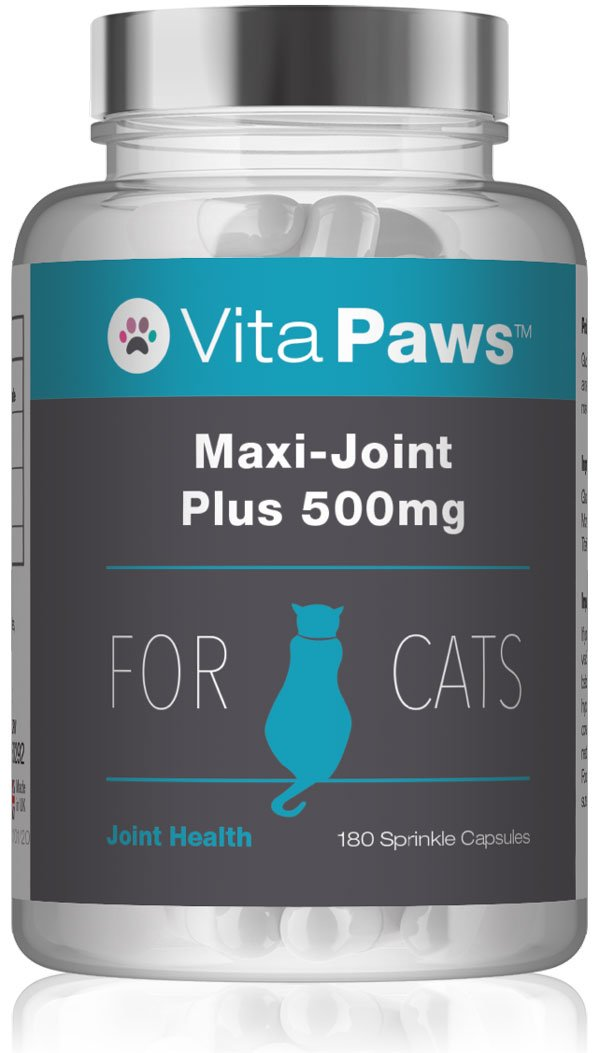 VitaPawsTM Maxi-Joint Plus 500mg | Con glucosamina para favorecer la salud de las articulaciones de nuestra mascota | 180 Cápsulas para espolvorear ...