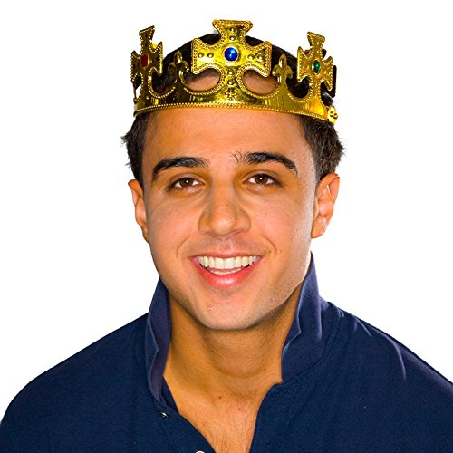 Gold Jeweled Crown -