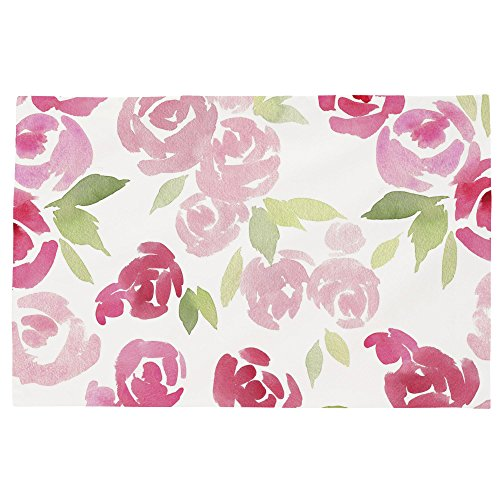 Carousel Designs Watercolor Roses Toddler Bed Pillow Case by Carousel Designs