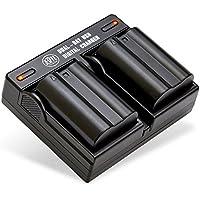 BM Premium Pack Of 2 EN-EL15 Batteries and USB Dual Battery Charger Kit for Nikon D7500, 1 V1, D500, D600, D610, D750, D800, D810, D810A, D850, D7000, D7100, D7200 Digital SLR Cameras