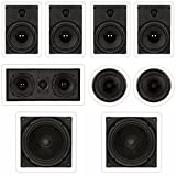 "Theater Solutions TST87 In Wall and In Ceiling 8"" Speakers 2000W Home Theater"