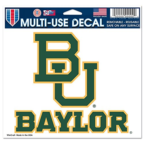 NCAA Baylor University Multi-Use Colored Decal, 5
