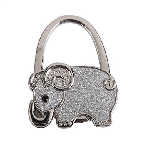 Foldable Rhinestone Elephant Hanger Handbag