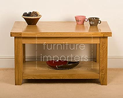 Furniture Importers Small Oak Coffee Table Amazon Co Uk Kitchen Home
