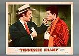 TENNESSEE CHAMP-1954-DEWEY MARTIN-KEENAN WYNN-DRAMA-SPORT-BOXING-LOBBY CARD FR/G