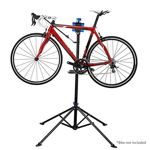 Flexzion Bike Repair Stand Rack Foldable Cycle Bicycle Workstand Home Pro Mechanic Maintenance Tool Adjustable 41'' To 75'' With Telescopic Arm Clamp Lightweight and Portable by Flexzion (Image #4)