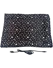 BOICXM Pet Heating Pad, 13.8Inch Electric Heating Pad Temperature Adjustable Dog Cat Heating Pad with Timer, Waterproof Pet Heating Pads Electric Pads for Dogs Cats, Pet Heated Mat