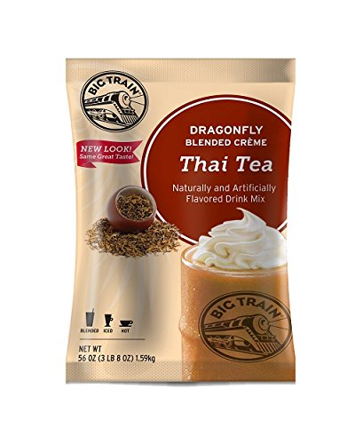 Big Train Dragonfly Blended Crème Frappe Mix Thai Tea 3.5 Pound Bag