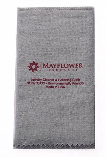 Pro Size Polishing Cleaning Cloth |100% Cotton| Made in USA for Gold Silver and Platinum Jewelry, watch, coins |Non Toxic Tarnish Remover Cleaner |100% Cotton Large Cloth| Keep Jewelry Clean and Shiny from Mayflower Products