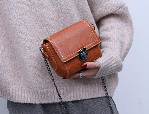 De Bolso Bolso Hombro Solo Bolsa Meaeo De De Pequeña Nueva Brown Bolso Plaza Mujer Sesgados Brown 5SXtq