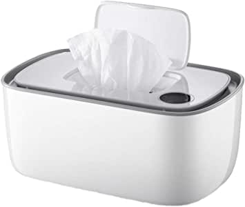 ZOUJUN Calentador termostato toallitas de bebé dispensador Dry Box Tejido húmedo Caso de Papel Cubierta de la Caja del sostenedor de la servilleta Cuadro Titular con Tapa for Ministerio portátil 25 *: