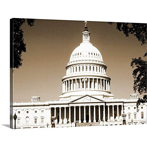 GREATBIGCANVAS Gallery-Wrapped Canvas Entitled Capital Building, Washington DC by 24