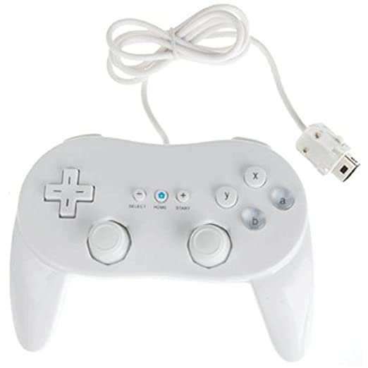 Assecure White Classic Pro Controller For Nintendo Wii Remote