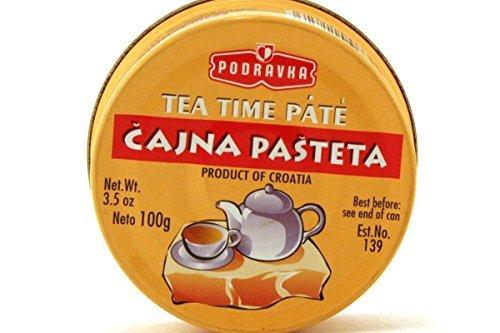 Tea Time Pate (Cajna Pasteta) - 3.5oz (Pack of 6) - Pate French