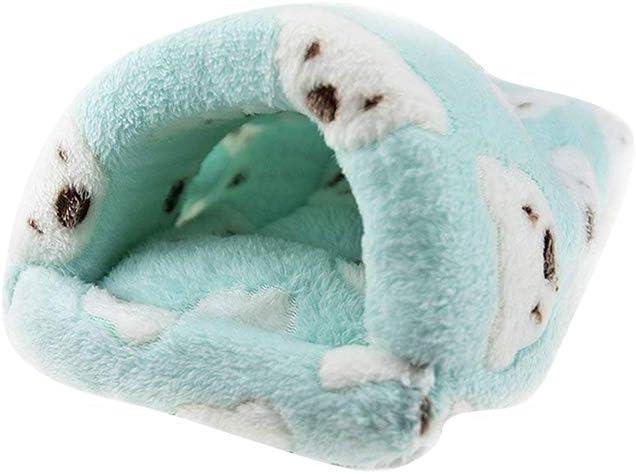POPETPOP Saco de Dormir para Pequeños Animales, Cama de Lana de Hámster, Accesorios de Cama Blanda para Hámster Hedgehog Chinchilla Conejo - Tamaño S (Verde)