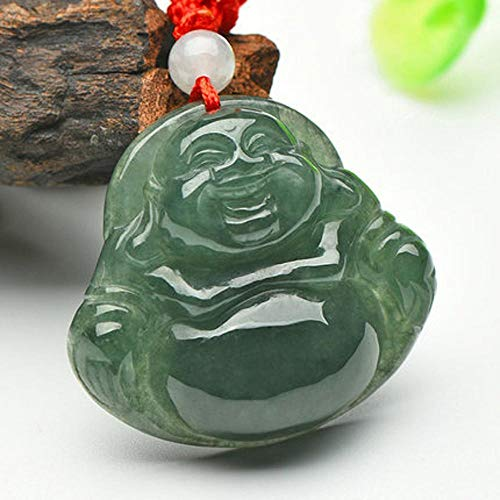 Zhiming 30255mm Jadeite a Cargo Jade Buddha Pendant Women's ice Seed Oil Green Laugh Buddha Jade Natural Maitreya Maitreya Jade Pendant