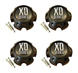 4 x KMC XD Series 796 797 798 Matte Flat Black 6 Lug Wheel Center Cap 1079L145