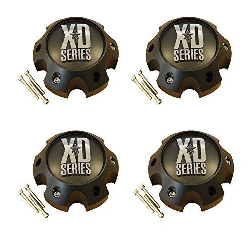 4 x KMC XD Series 796 797 798 Matte Flat Black 6 Lug Wheel Center Cap 1079L145