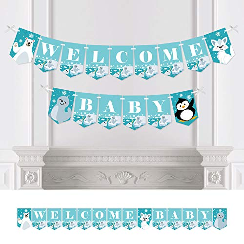Big Dot of Happiness Arctic Polar Animals - Winter Baby Shower Bunting Banner - Party Decorations - Welcome ()