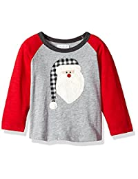 Mud Pie baby-boys Toddler Boys Christmas Long Sleeve Raglan T-shirt