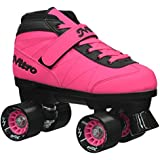 New! 2016 Epic Nitro Turbo Pink Indoor / Outdoor Quad Roller Speed Skates w/ 2 Pair of Laces (Pink & Black)