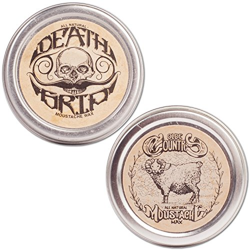 (Moustache Wax Combo Pack - Medium & Strong Hold, 1oz)