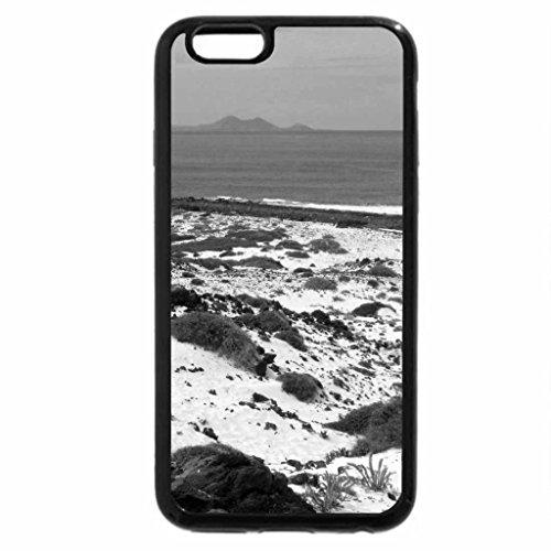 iPhone 6S Plus Case, iPhone 6 Plus Case (Black & White) - Beach North Lanzarote