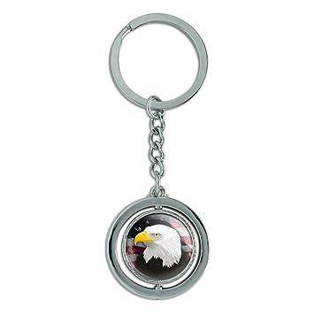 Amazon.com: American Bald Eagle Flag USA Patriotic Spinning ...