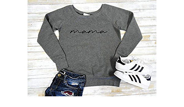 Mom Pullover Crewneck Sweatshirt Cute Mom Sweatshirt Mama Sweatshirt Fleece Lined UNISEX FIT S-3XL Mama Sweater Mom Sweater