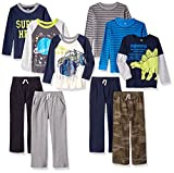 Gerber Graduates Baby Toddler Boys' 10 Piece Season in a Box, 6/Tops 4/Pants, Multi, 5T