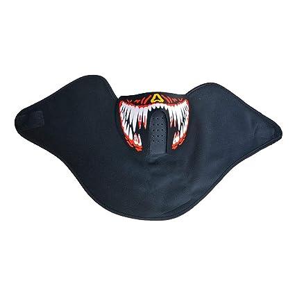 Mengonee Halloween Máscaras Ropa de LED Grande Terror Máscaras de luz fría del Casco del Partido